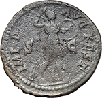 reverse:  Claudius (41-54). AE As. Restitution issue. Rome mint. Struck under Domitian, 82 AD.