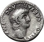 obverse:  Nero (54-68). AR Denarius.