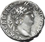 obverse:  Nero (54-68). AR Denarius, 64-68.