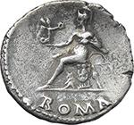 reverse:  Nero (54-68). AR Denarius, 64-68.