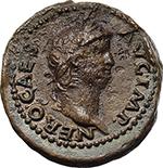 obverse:  Nero (54-68). Semis, circa 64 AD.