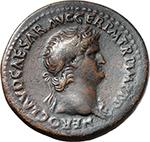 obverse:  Nero (54-68). AE Sestertius,