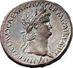 obverse:  Nero (54-68). AE Sestertius, circa 67 AD. Rome mint.