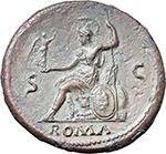 reverse:  Nero (54-68). AE Sestertius, circa 67 AD. Rome mint.