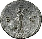reverse:  Nero (54-68). AE As, Lugdunum mint.