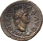 obverse:  Nero (54-68). AE Semis, Lugdunum mint.