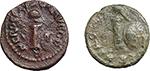 obverse:  Nero (54-68). Lot of 2 AE Quadrantes.
