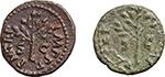 reverse:  Nero (54-68). Lot of 2 AE Quadrantes.