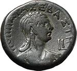 reverse:  Nero with Poppaea. BI Tetradrachm, 63-64 AD. Alexandria mint.