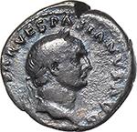obverse:  Vespasian (69-79) with Titus and Domitian. AR Denarius, 69-71.