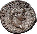 obverse:  Vespasian (69-79). Fourrée Denarius core(?), 79 AD.