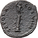 reverse:  Vespasian (69-79). Fourrée Denarius core(?), 79 AD.