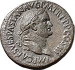 obverse:  Vespasian (69-79). AE Sestertius, 37-38 AD.
