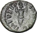 obverse:  Vespasian (69-79). AE Quadrans, 72-73 AD.