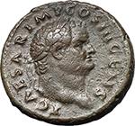 obverse:  Titus as Caesar (69-79). AE As, 74-76.