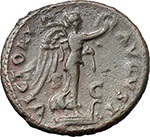 reverse:  Titus as Caesar (69-79). AE As, 74-76.