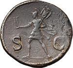 reverse:  Domitian (81-96). AE Dupondius, 85 AD.