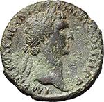 obverse:  Nerva (96-98). AE As, 97 AD.