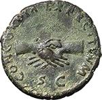 reverse:  Nerva (96-98). AE As, 97 AD.