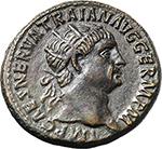obverse:  Trajan (98-117). AE Dupondius, 99-100 AD.