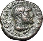 obverse:  Trajan (98-117). AE Quadrans. Rome mint. Struck circa 98-102 AD.