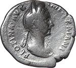 obverse:  Plotina, wife of Trajan (died 129 AD.). AR Denarius.