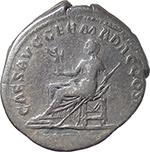 reverse:  Plotina, wife of Trajan (died 129 AD.). AR Denarius.