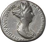 obverse:  Matidia Augusta (112-119). AR Denarius, 112 AD.
