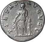 reverse:  Matidia Augusta (112-119). AR Denarius, 112 AD.