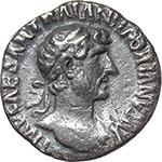 obverse:  Hadrian (117-138). AR Quinarius, 119-122.