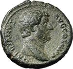 obverse:  Hadrian (117-138). AE As, 134-138.