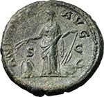 reverse:  Hadrian (117-138). AE As, 134-138.