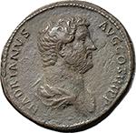 obverse:  Hadrian (117-138). AE Sestertius, 134-138.