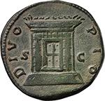 reverse:  Antoninus Pius (138-161). AE Sestertius. Struck under Marcus Aurelius and Lucius Verus, circa 161 AD.