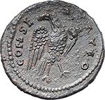 reverse:  Faustina I, wife of Antoninus Pius (died 141 AD). Fourrée Denarius core(?).