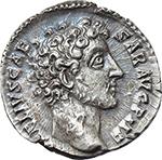 obverse:  Marcus Aurelius as Caesar (139-161). AR Denarius, 145-147.