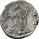 reverse:  Marcus Aurelius as Caesar (139-161). AR Denarius, 145-147.
