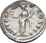 reverse:  Marcus Aurelius (161-180). AR Denarius, 169-170.