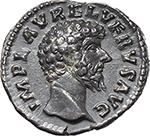 obverse:  Lucius Verus (161-169). AR Denarius, 162-163.