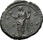 reverse:  Lucilla, wife of Lucius Verus (died 183 AD). AE As, Rome mint. Struck under Marcus Aurelius, 164-166/7 AD.