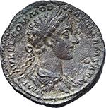 obverse:  Commodus as Augustus with M. Aurelius (177-180). AE Sestertius, 177 AD.