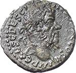 obverse:  Pescennius Niger (193-194). AR Denarius, Antioch mint.