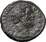 obverse:  Clodius Albinus (195-197). AE As, 194-195 AD.