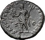reverse:  Clodius Albinus (195-197). AE As, 194-195 AD.