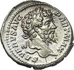 obverse:  Septimius Severus (193-211). AR Denarius, 200-201 AD.