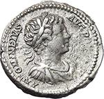 reverse:  Septimius Severus, with Caracalla (193-211). AR Denarius, 202 AD.