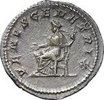 reverse:  Julia Domna, wife of Septimius Severus (died 217 AD.). AR Antoninianus.