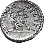 reverse:  Julia Domna, wife of Septimius Severus (died in 217 A.D.). AR Denarius, 196-211.