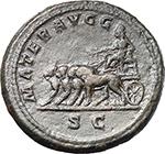 reverse:  Julia Domna, wife of Septimius Severus (died 217 AD.). AE Dupondius, 200-207.