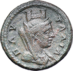 reverse:  Julia Domna, wife of Septimius Severus (died 217 AD). AE 23 mm, Pautalia (Thrace).